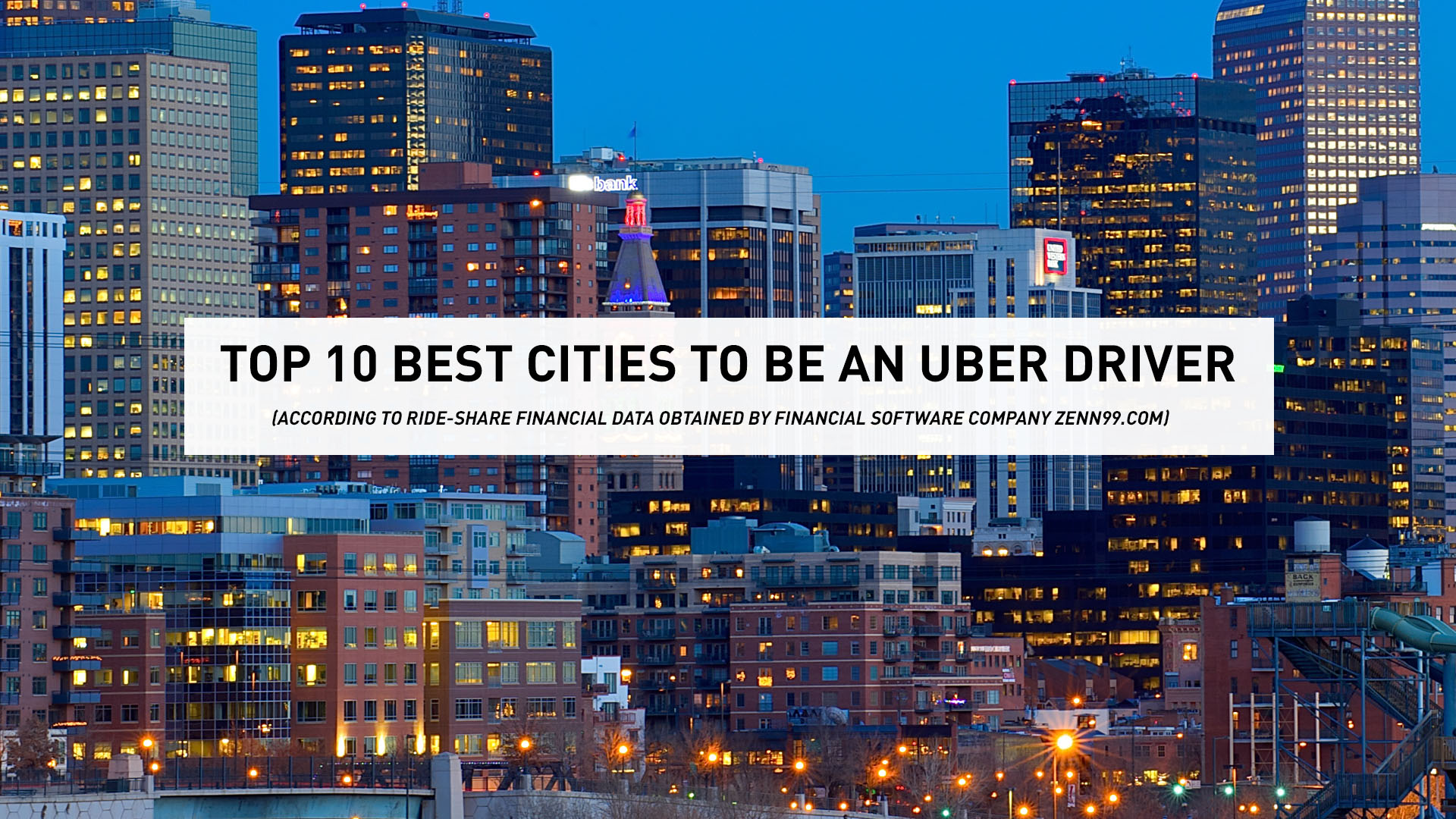 Best Cities To Be An Uber Driver ABCcom - The 10 best cities to use uber