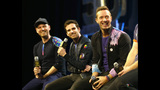 Coldplay appears at Super Bowl 50 to talk about halftime performance