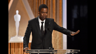 Chris Rock hosting, rewriting monologue