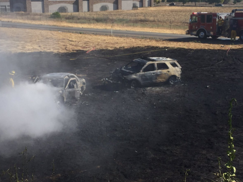 Vacaville police pursuit ends in flames for Vacaville weather