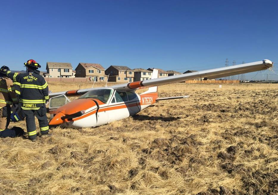 Photos small plane crashes in vacaville for Vacaville weather