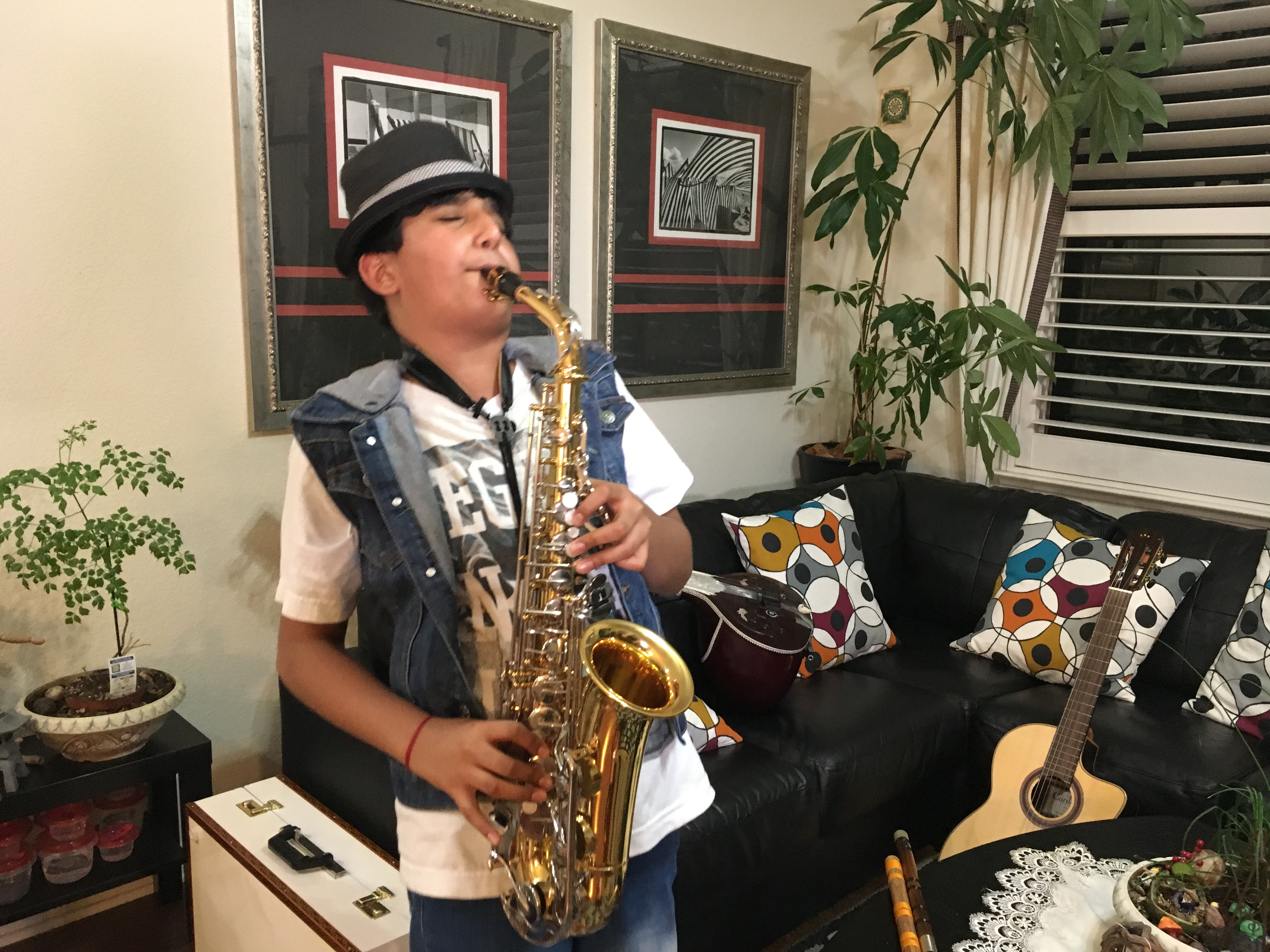 Elk Grove 7th grader believed to be youngest person to play most musical instruments   ABC10.com