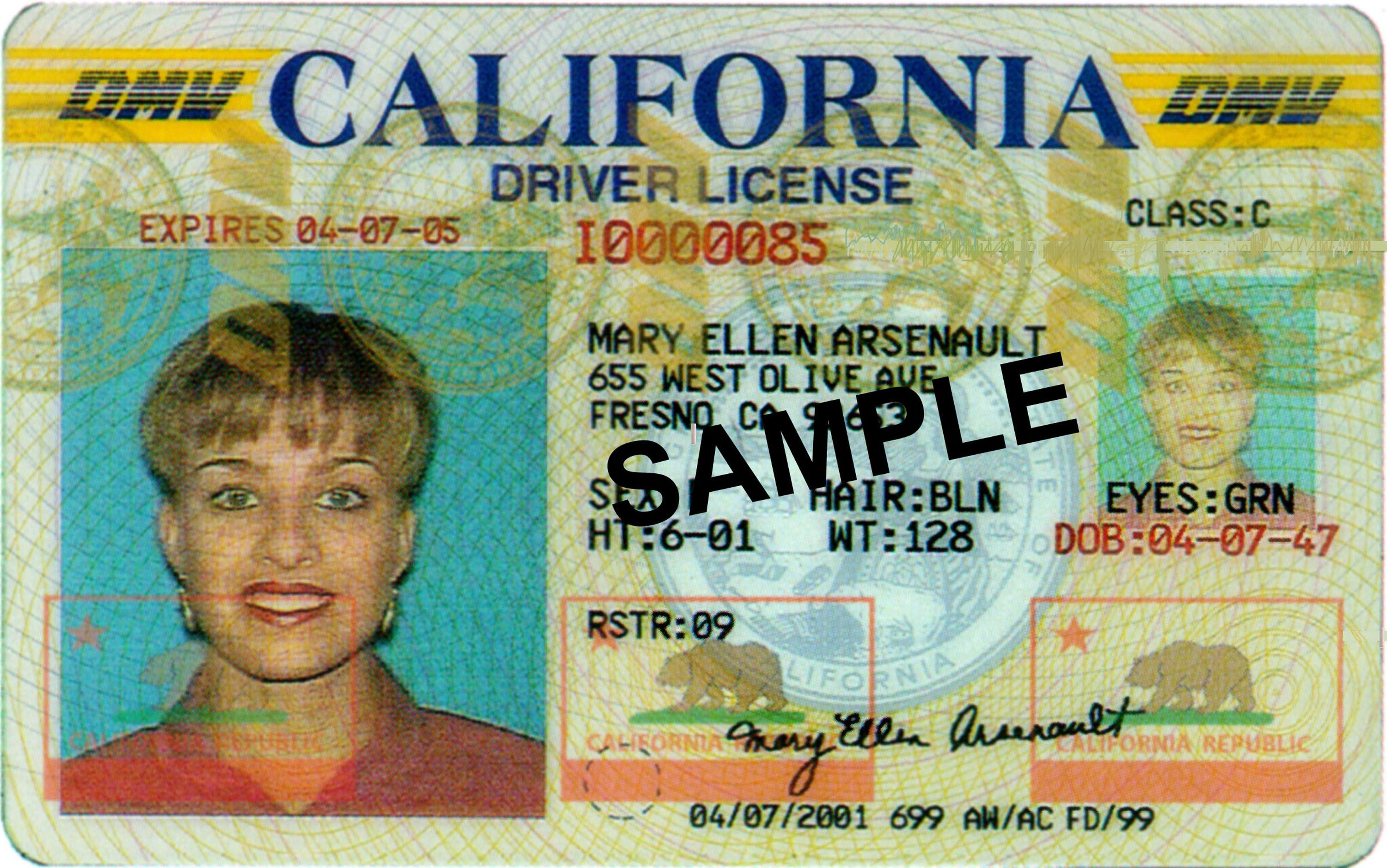 Creator License License Creator Drivers Drivers California